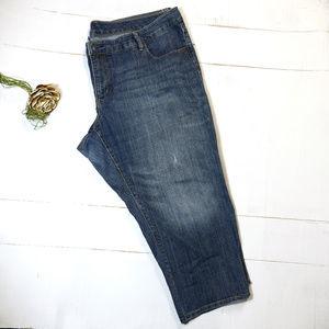 Old Navy Plus | boyfriend distressed jeans | 24